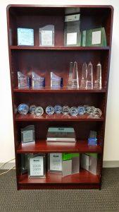 ISG awards shelf