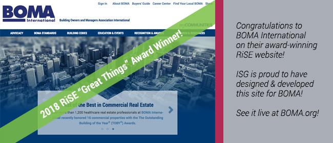 BOMA award-winning website