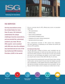 ISG Services Datasheet