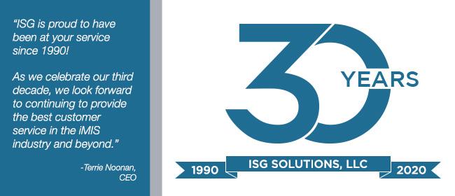 ISG Solutions 30th Anniversary
