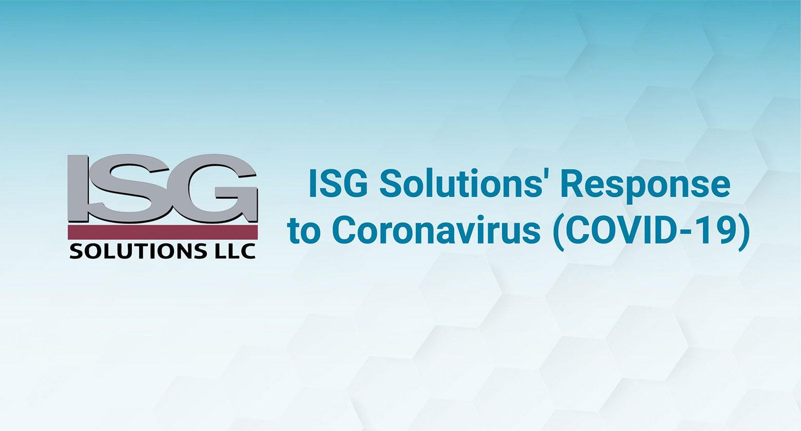 ISG Solutions Response to Coronavirus